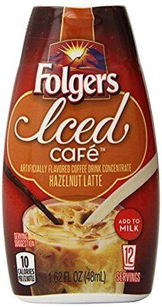 Folgers Ice Cafe Hazelnut Latte 1.62 oz (2 Pack
