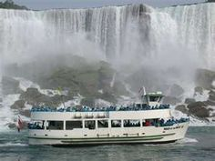 The boat ride takes you very close to the Falls...you need to wear a plastic cover up, otherwise you would be soaked.