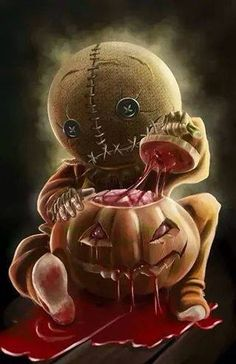 Sam from Trick 'r Treat Kinda looks like a Garbage Pail Kids card