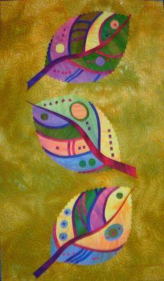 Artfabrik - Laura Wasilowski Patterns - Artfabrik Patterns - Spring Leaves