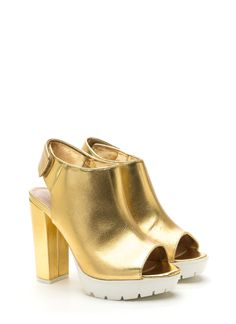 Lug At First Sight Metallic Heels GOLD