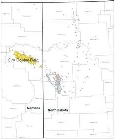 Map Of Bakken Formation Reservoirs In The Us Portion Of The Williston Basin Saskatchewan Is North Border Prior To Most Oil Came From The Elm Coulee Oil