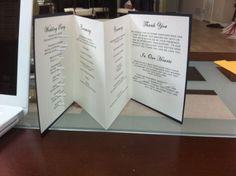 DIY accordion wedding program