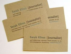 #Recycled Paper Business Card