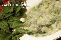 Ricetta Seuppa d'éforié - Minestra di primavera di #riso e #ortiche - Fratelli ai Fornelli