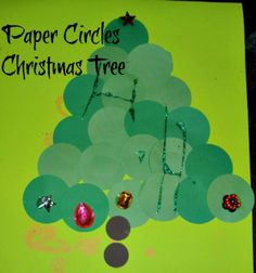 Paper Circle Christmas Trees
