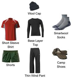 Here's the list of clothing with pictures and explanations that you will need for cold and warm weather conditions on the Appalachian Trail.  You'llwear the same clothes for 3-5 days at a time and they will smell. You'll be tempted to carry more clothing, but you can't pack multiple outfits and still have room for your gear and food. That's why it's important to carry clothing that is multifunctional, durable, and that can be layered. As with every piece of equipment, test each item ...
