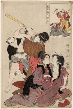 Edo period about 1797 (Kansei 9) Artist Kitagawa Utamaro (Japanese, early 1750s–1806) Act III (Sandanme), from the series The Storehouse of Loyal Retainers (Chûshingura) | Museum of Fine Arts, Boston