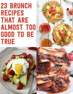 23 Brunch Recipes That Are Almost Too Good To Be True.i love brunch Breakfast Dishes, Breakfast Time, Breakfast Recipes, Birthday Breakfast, Breakfast Bars, Breakfast Ideas, Food Porn, Cooking Recipes, Healthy Recipes
