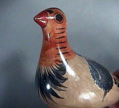 Tonala Mexican Burnished Pottery Dove mid 20th Century