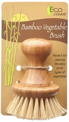 Lola Clean Bamboo & Tampico Vegetable Brush | Free Shipping