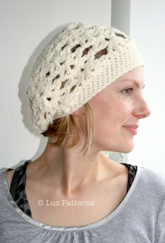 CROCHET HAT PATTERN crochet vintage inspired beret hat pattern girls and womens hat pattern (34). $3.99, via Etsy.