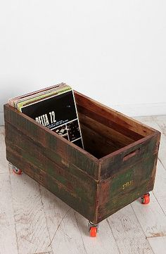 Vintage Wood Rolling Cart  #urbanoutfitters  http://www.urbanoutfitters.com/urban/catalog/productdetail.jsp?id=25430216=A_DECORATE