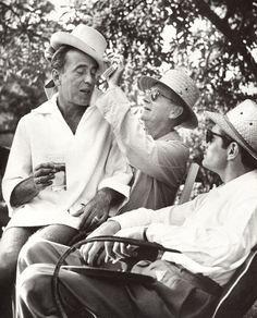 Clifton Webb, Humphrey Bogart, and Laurence Olivier