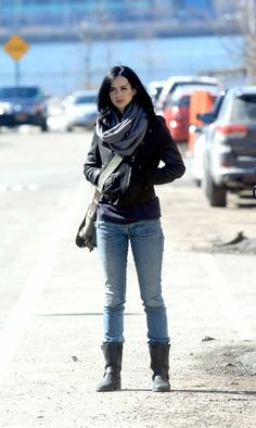 Jessica Jones, simple, wouldn't have to wear a wig and really enjoy the show... #possibilities