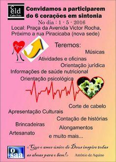 CIDADE: Cabo Frio - Domingo dia 1º de maio tem Ação social...