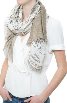 The intricately printed Primavera Scarf ($245) from Ottotredici 813 is the perfect lightweight addition to any outfit. #ottotredici #scarf #printed #dianiboutique #cashmere