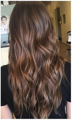 Long Wavy Ash-Brown Balayage - 20 Light Brown Hair Color Ideas for Your New Look - The Trending Hairstyle Chocolate Brown Hair Color, Hair Color Caramel, Brown Ombre Hair, Brown Hair Balayage, Brown Blonde Hair, Balayage Brunette, Light Brown Hair, Brown Hair Colors, Caramel Hair With Brown