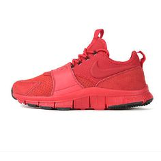 Nike Free Ace Leather Mens 749627-600 Red Athletic Training Shoes Size 6.5