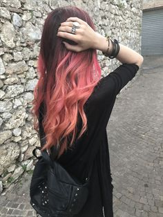 Red and pink peach
