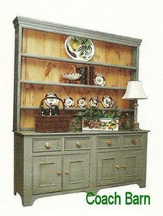 7 Ft Tall Country Hutch Distress Levels 25 Cottage Paints Stains Country New