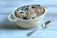 Blueberry Almond Baked Oatmeal (for one)