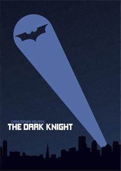 The Dark Knight (2008) ~ Minimal Movie Poster by ChotaMota Designs #amusementphile