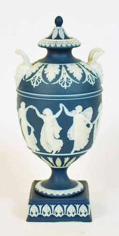 wedgwood jasperware urn | Wedgwood Jasperware dancing… - Antiques & Decorative Arts ...