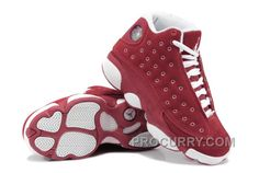 huge selection of 0dbb2 e17df Girls Air Jordan 13 Retro Suede Red White For Sale Cheap