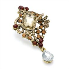 vintage style gold crystal ladies womens fashion dress brooch | 14584 | £16.50