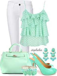 """Mint"" by stephiebees on Polyvore"