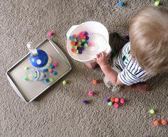 Toddler Sensory Activity: Fuzzy Balls
