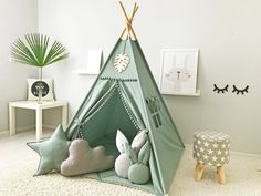 Diy Tipi, Tp Tent, Wooden Feather, Kids Teepee Tent, Play Tents, Baby Tent, Child Teepee, Girls Tent, Childrens Teepee