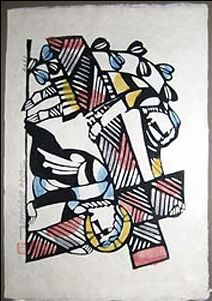 Japanese Art by the artist Sadao Watanabe | Christ Falling while Carrying Cross 1964