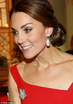 Catherine Duchess of Cambridge at the reception at Government House. Canada. September 26 2016