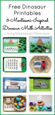 Free Dinosaur Printables and Montessori-Inspired Dinosaur Math Activities