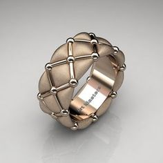 Luxurious and rich, this Modern Italian Rose Gold Quilted Infinity Designer … - Gold Jewelry Bijoux Design, Schmuck Design, Jewelry Design, Gold Jewelry, Jewelry Rings, Jewelry Accessories, Jewellery, Jewelry Stand, Bijou Box