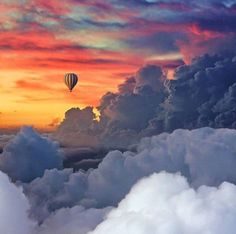 New Surreal Scenes by Robert Jahns – Fubiz Media Nature Pictures, Cool Pictures, Cool Photos, Beautiful Pictures, Beautiful Sunset, Beautiful World, Sky And Clouds, Hot Air Balloon, Belle Photo