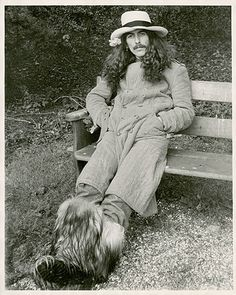 """George Harrison at his estate, Friar Park, in England, 1974."