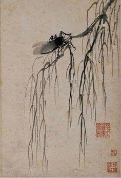 A crying cicada on an autumn willow - Shen Zhou