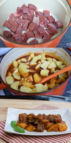 Braised Potatoes with Beef is our go to comfort good, delicious! Can replace beef with chicken, pork or turkey all just as good. Pork Recipes, Mexican Food Recipes, Cooking Recipes, Recipes With Beef Cubes, Recipies, Great Recipes, Dinner Recipes, Favorite Recipes, Beef Dishes