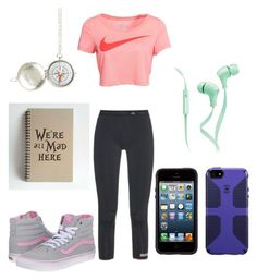 """""""At the Park Drawing-Em"""" by kitty-loves-rp ❤ liked on Polyvore featuring adidas, NIKE, Speck, Merkury Innovations and Vans"""