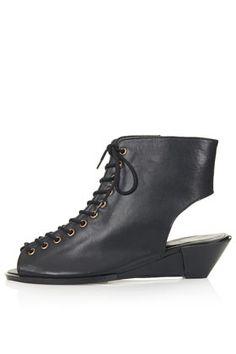 FLEX Lace Up Wedge Sandals