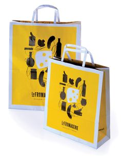 Manufacturer of Shopping Bags Printing - Shopping Bag Printing, Promotional Paper Bag, Personalised Carry Bags and Premium Carry Bag offered by Hira Print Solutions Private Limited, Navi Mumbai, Maharashtra. Cheese Packaging, Cool Packaging, Luxury Packaging, Brand Packaging, Graphic Design Typography, Branding Design, Shopping Bag Design, Shopping Bags, Paper Bag Design