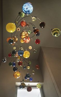 """Globes,"" a blown glass art sculpture by Jeff Rothenberg,"