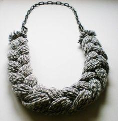 Braided Yarn Necklace via Etsy