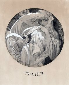 Alphonse Mucha. One of my favorite artists...