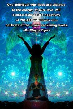 This actually comes from Power versus Force written by Dr. Hawkins, Wayne Dyer quotes this from him.