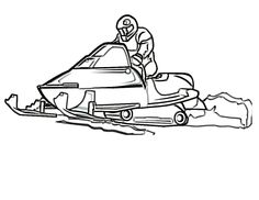 snowmobile in the winter sports