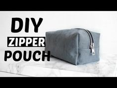 Ideas diy makeup bag no zipper for 2019 Diy Makeup Bag No Zipper, Diy Makeup Bag Tutorial, Diy Pouch Tutorial, Makeup Bag Tutorials, Diy Pouch No Zipper, Pencil Case Tutorial, Pencil Case Pouch, Sewing Tutorials, Pencil Cases